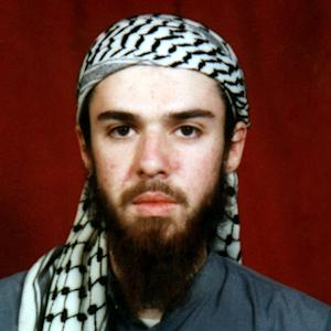 FILE - This  undated file photo obtained from a religious school where he studied for five months in Bannu, near Islamabad, Pakistan shows American-born Taliban fighter John Walker Lindh. A U.S. judge on Friday, Jan. 11, 2013 ruled that the convicted Taliban fighter should be allowed to pray daily in a group with other Muslim inmates at their high-security prison in Indiana. The judge ruled that the prison was violating Lindh's and other Muslim inmates' religious freedom by banning them from engaging in daily ritual prayer. (AP Photo/File)