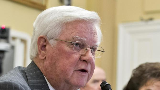 FILE - This Jan. 14, 2013 file photo shows House Appropriations Committee Chairman Rep. Hal Rogers, R-Ky. on Capitol Hill in Washington. On the face of it, one of the most powerful pairings in Washington is a hopeless mismatch _ a former social worker and liberal Democrat from Baltimore's working-class Fells Point neighborhood and an old-school, cigar-chomping GOP conservative raised in a dry county in the mountains of southeastern Kentucky. But in a bitterly divided Congress, the odd couple of Sen. Barbara Mikulski and Rep. Harold Rogers is a rare bipartisan success story. (AP Photo/J. Scott Applewhite, File)