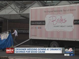 Brides offered designer wedding gowns at deep discounts for good cause