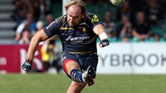 Andy Goode scored all of Worcester's points - five penalties, a try, and a conversion