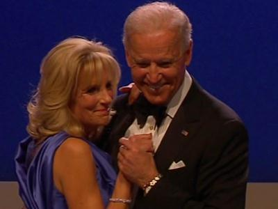 "Raw: Bidens Dance to ""I Can't Stop Loving You"""