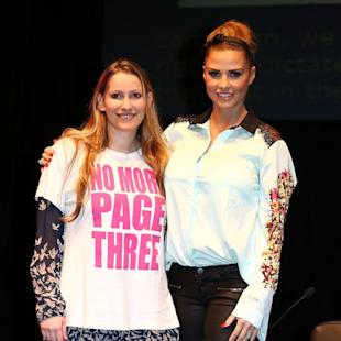 Katie Price defends herself against No More Page Three