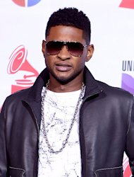 Usher's former stepson laid to rest