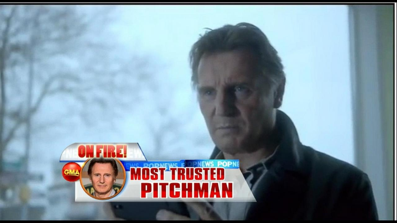 Liam Neeson Tops Nielson List of Most Influential Celebs in Advertising