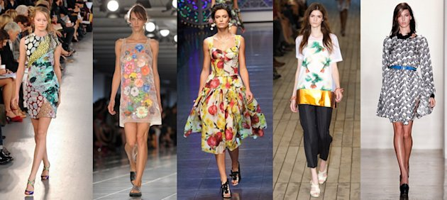 Mary Katrantzou, Christopher Kane, Dolce &amp;amp; Gabbana, Commuun and Peter Som Spring/Summer 2012 (Getty Images)