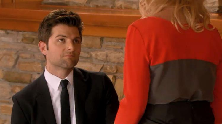 "Question: On ""Parks and Recreation,"" how did Leslie Knope react to boyfriend Ben's incredibly romantic proposal?"