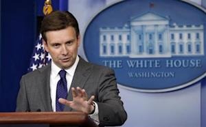 White House Deputy Press Secretary Josh Earnest speaks about Syria in Washington