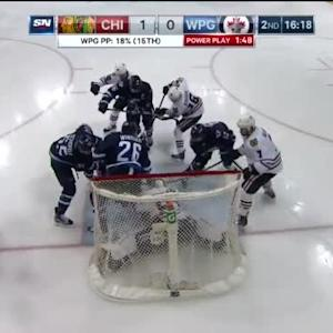 Corey Crawford Save on Mark Scheifele (03:41/2nd)