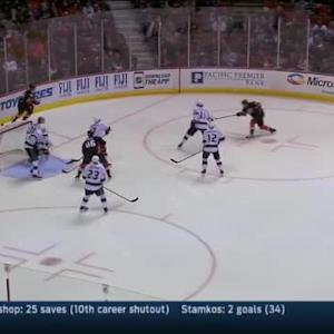Martin Jones Save on Rickard Rakell (02:16/2nd)
