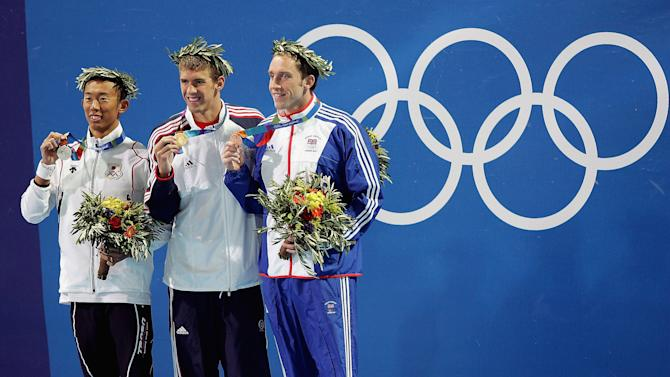 Mens 200m Butterfly Medal Ceremony