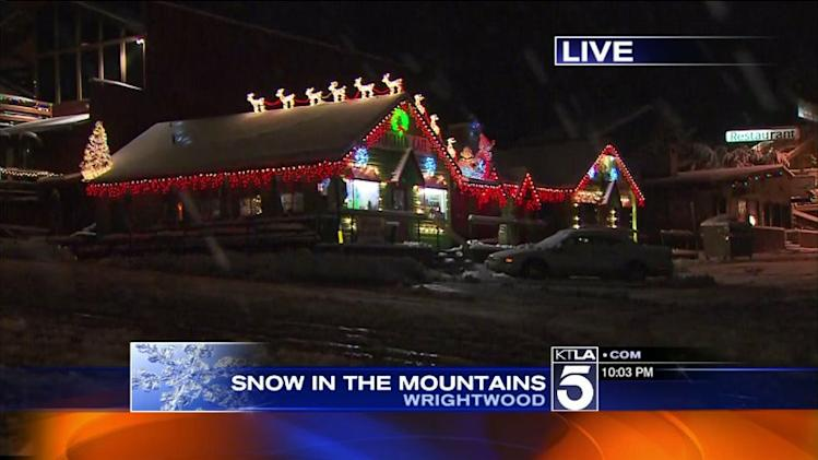 Cold Storm Brings Snow to SoCal Mountains