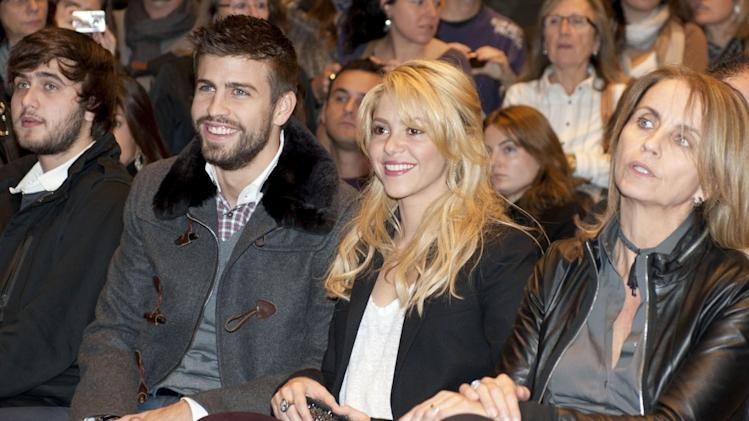 Shakira and Gerard Pique support his father at the launch of his new book in Barcelona, Spain