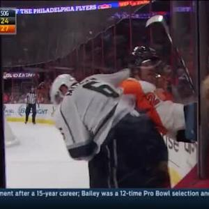 Jarret Stoll Hit on Jakub Voracek (18:06/2nd)