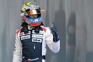 William's Venezuelan driver Pastor Maldonado will start from pole position for the first time after being promoted from second on the grid