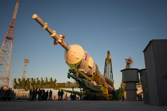Soyuz Rocket Launching US-Russian Crew to Space Station Tuesday