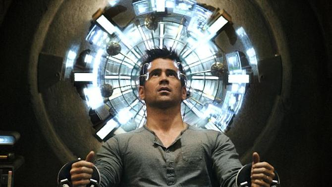 """This film image released by Columbia Pictures shows Colin Farrell in a scene from the action thriller """"Total Recall.""""  (AP Photo/Columbia Pictures - Sony, Michael Gibson)"""