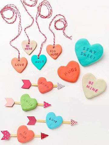 Clay Conversation Hearts