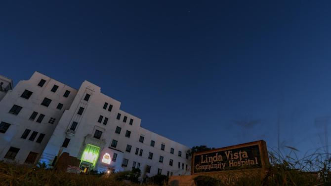 """A general view of the exterior of Linda Vista Hospital is seen during the """"American Horror Story: Asylum"""" sleepover, on Monday, Oct. 7, 2013, in Los Angeles. (Photo by Paul A. Hebert/Invision/AP)"""