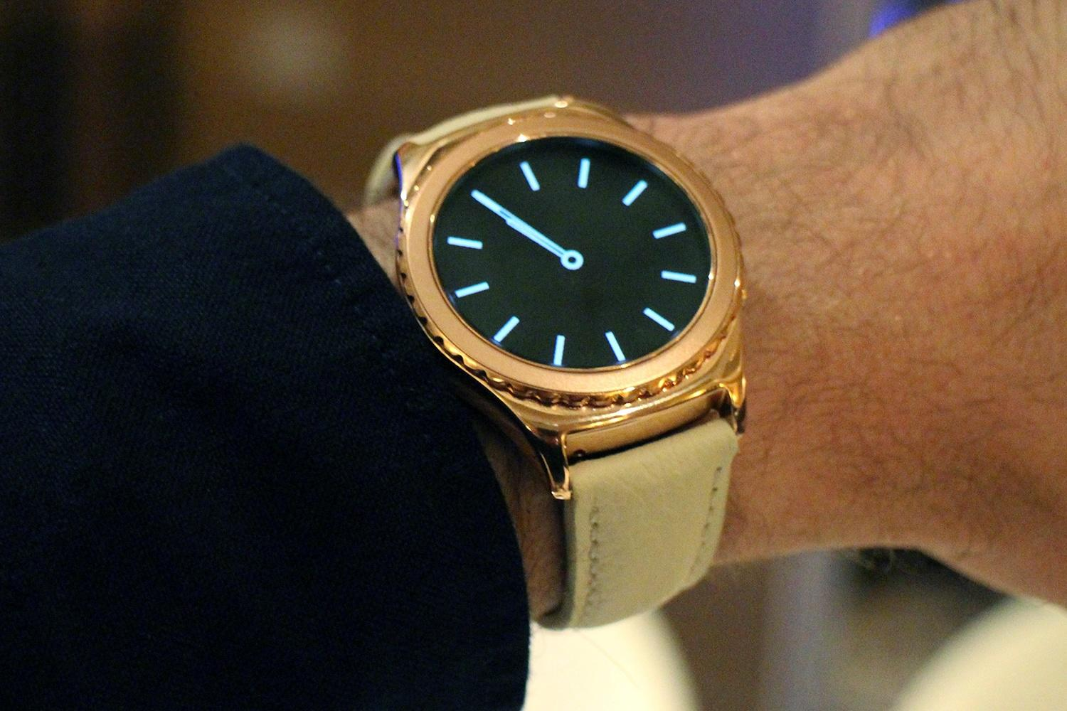 Samsung's gorgeous 18K rose gold and platinum Gear S2 Classic watches arrive Feb. 12