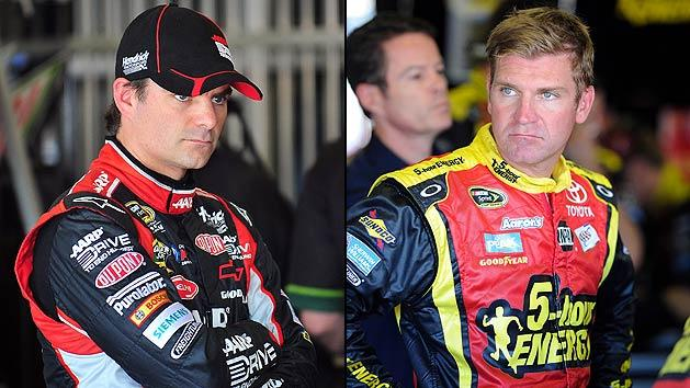 Jeff Gordon and Clint Bowyer