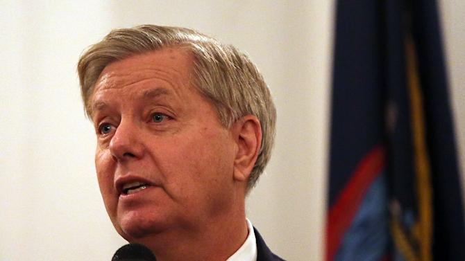 US Senator Lindsey Graham, a candidate for the Republican Party's presidential nomination photographed on November 19, 2015, called November 29 for the creation of an international army of 100,000 troops to fight Islamic State militants in Syria