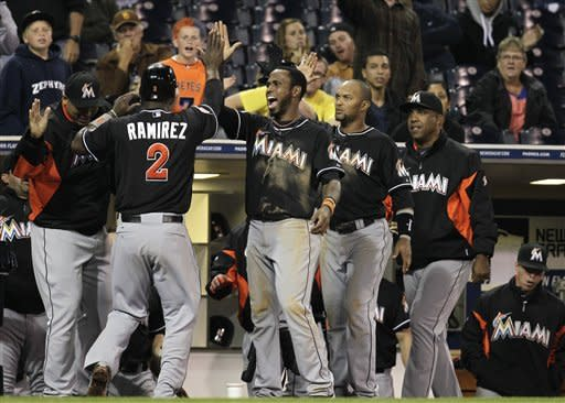 Infante's double in 12th lifts Marlins over Padres