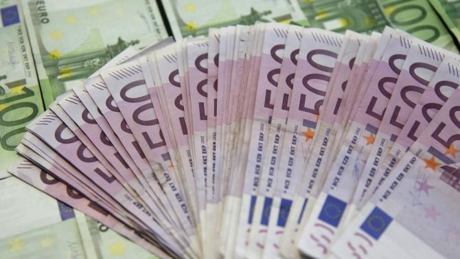 A picture illustration shows Euro banknotes in Zenica