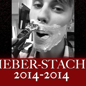 Justin Bieber Finally Shaves That Mustache