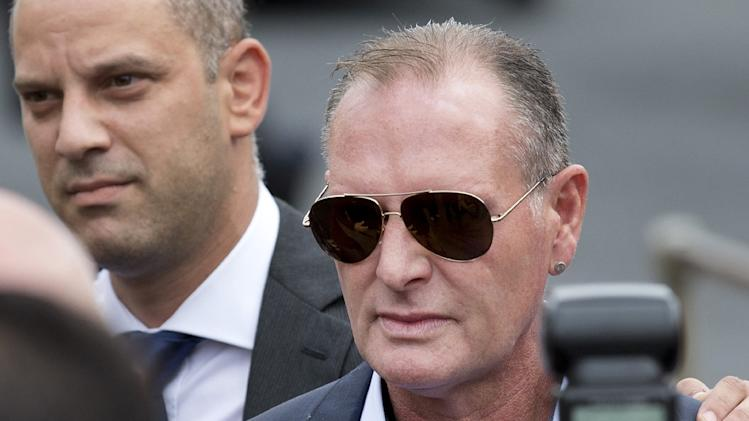 File photo shows former England footballer Paul Gascoigne arriving at Stevenage Magistrates Court, north of London, on August 5, 2013