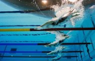 "File picture of the women's 200m individual medley final at the London Olympics on July 31, 2012. Drunkenness, misuse of prescription drugs and bullying were among ""toxic"" incidents in the under-performing Australian swimming team at the London Olympics, a report said on Tuesday"