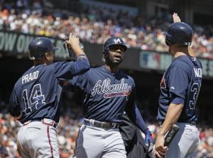 Heyward, Minor lead Braves past Giants 7-3