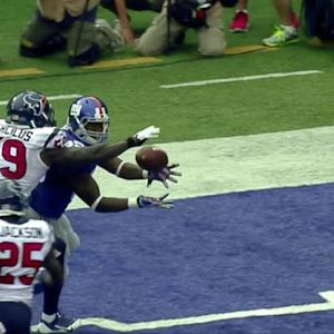 New York Giants tight end Daniel Fells 9-yard touchdown catch