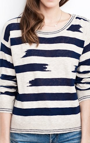 Slouchy Freestyle Striped Sweater