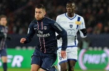 Paris Saint-Germain 3-1 SC Bastia: Ancelotti's side goes six points clear after goals from Menez, Ibrahimovic and Lavezzi