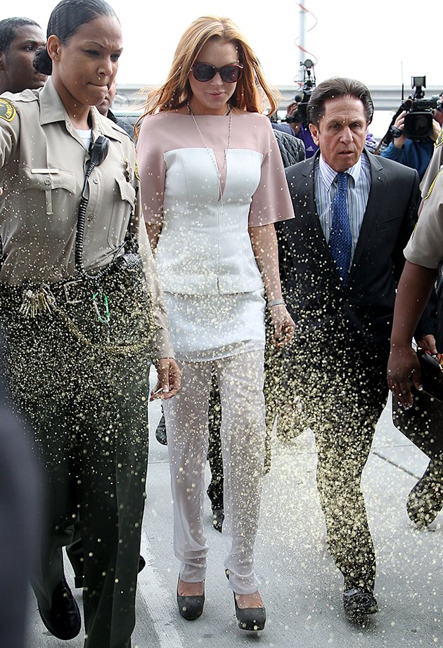 Lindsay Lohan arrives to court …