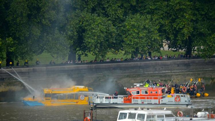 UK boat company suspends service after blaze