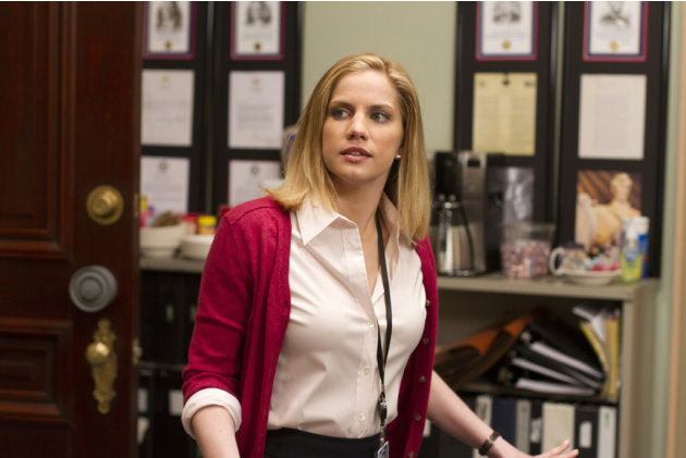 "Anna Chlumsky stars as Amy Brookheimer in ""Veep."""