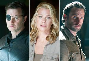 David Morrissey, Laurie Holden,Andrew Lincoln | Photo Credits: Gene Page/AMC