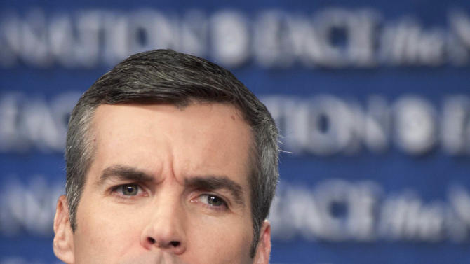 """In this July 15, 2012, photo released by CBS, Senior Advisor to the Romney Campaign, Kevin Madden, appears on CBS's """"Face the Nation"""" in Washington. . (AP Photo/CBS, Chris Usher) MANDATORY CREDIT"""