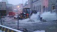 A flood in downtown Montreal is snarling traffic and potentially causing damage to McGill University's campus.