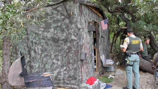 Camouflaged home found in California park