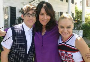 Kevin McHale, Katey Sagal and Becca Tobin | Photo Credits: Katey Sagal/Twitter