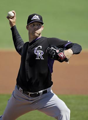 Pacheco hits 2-run homer, Rockies rout Indians