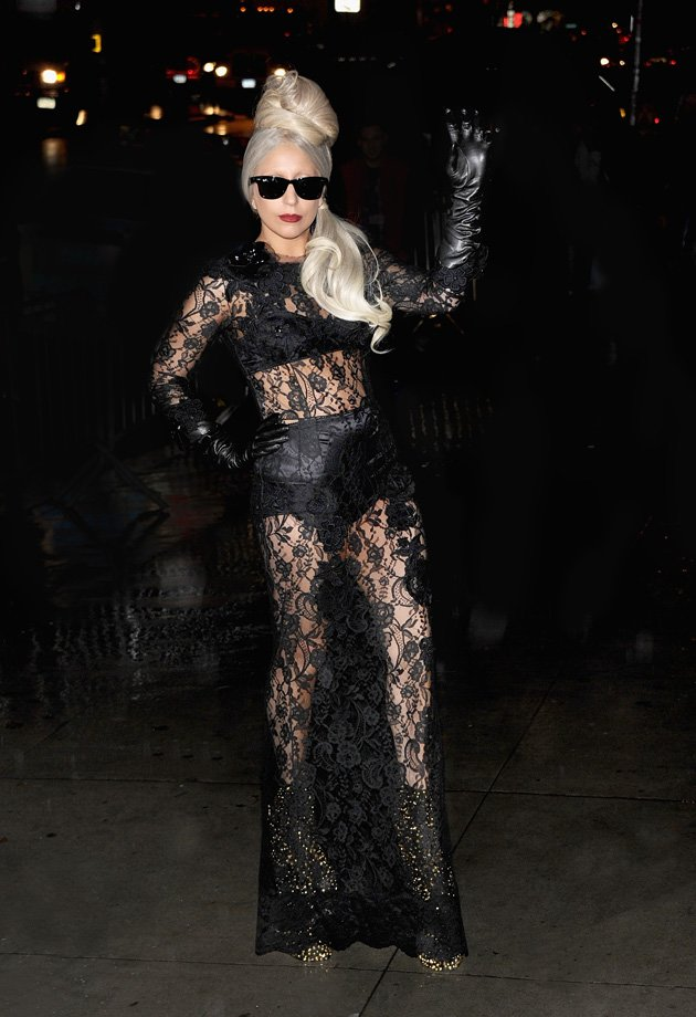 Gaga wore lace for the Lady …