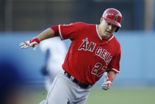 Mike Trout looks headed for his first AL MVP award. (AP)