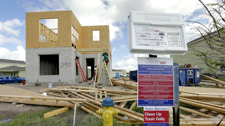 US homebuilder confidence up in June, remains low