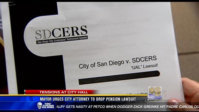 Mayor urges city attorney to drop pension lawsuit