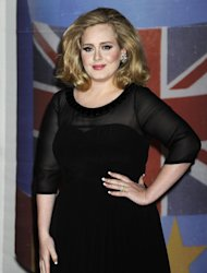 FILE - In this Feb. 21, 2012 file photo, performer Adele arrives for the Brit Awards 2012 at the O2 Arena in London. Adele will perform the James Bond theme Skyfall at the Oscars, her first U.S. performance since last year&#39;s Grammy Awards. The Academy of Motion Picture Arts and Sciences said Wednesday, Jan. 23, 2013, that Adele will sing the Oscar-nominated song at the 85th annual Academy Awards on Feb. 24. She and producer Paul Epworth are nominated for best original song for Skyfall. (AP Photo/Jonathan Short, File)