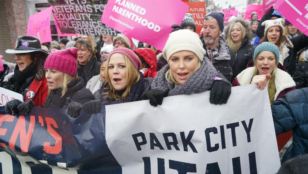 Sundance Film Festival Women's March Fights Off the Cold to Protest Trump