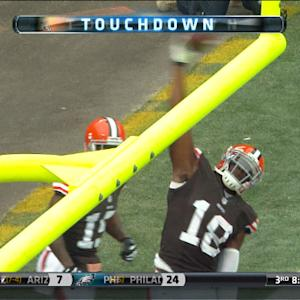 Cleveland Browns wide receiver Greg Little 4-yard touchdown catch